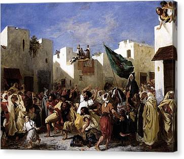 The Fanatics Of Tangier Canvas Print by Eugene Delacroix