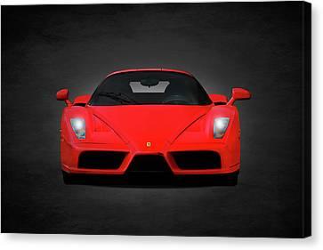 Red Ferrari Canvas Print - The Ferrari Enzo by Mark Rogan