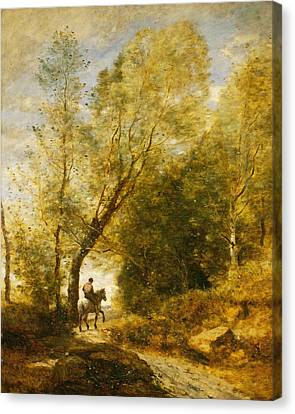 The Forest Of Coubron  Canvas Print by Jean-Baptiste-Camille Corot
