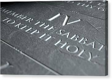 The Fourth Commandment Canvas Print