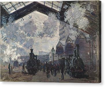 The Gare Saint-lazare Canvas Print by Claude Monet