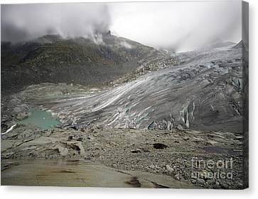 The Glacier Canvas Print by Angel  Tarantella
