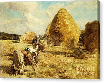 The Gleaners Canvas Print - The Gleaners by Leon Augustin Lhermitte