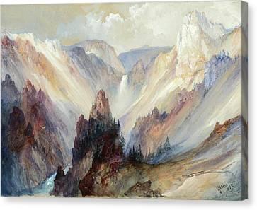 Thomas Moran Canvas Print - The Grand Canyon Of The Yellowstone by Thomas Moran