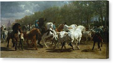 The Horse Fair Canvas Print by MotionAge Designs