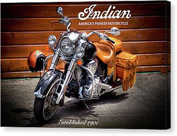 The Indian Motorcycle Canvas Print by David Patterson