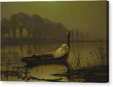 Arthurian Canvas Print - The Lady Of Shalott  by John Atkinson Grimshaw