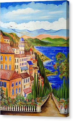 The Lake Canvas Print by Roberto Gagliardi