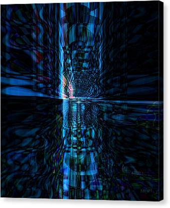 Canvas Print featuring the glass art The Light by Fania Simon