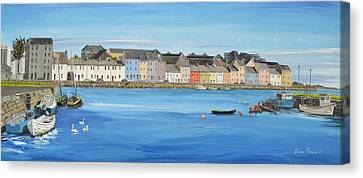 The Long Walk Galway Ireland Canvas Print by Diana Shephard