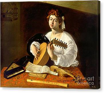 The Lute-player Canvas Print by Celestial Images