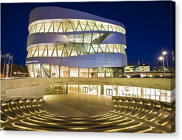 The Mercedes-benz Museum Canvas Print by Werner Dieterich