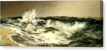 Moran Canvas Print - The Much Resounding Sea by Thomas Moran