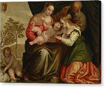 The Mystic Marriage Of St. Catherine Canvas Print