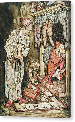 Old Canvas Print - The Night Before Christmas by Arthur Rackham