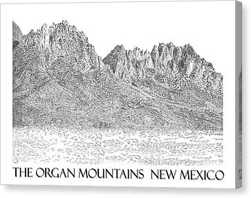 Canvas Print featuring the painting The Organ Mountains by Jack Pumphrey