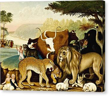 The Peaceable Kingdom Canvas Print