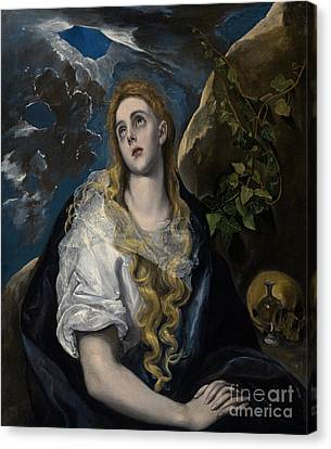 The Penitent Magdalene Canvas Print by El Greco