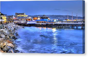 Redondo Landing At Night Canvas Print