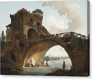 The Ponte Salario Canvas Print