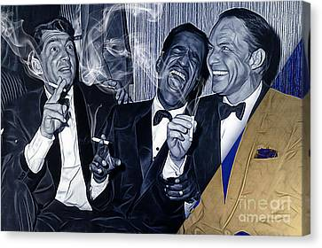 The Rat Pack Collection Canvas Print by Marvin Blaine