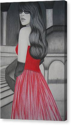 The Red Dress Canvas Print