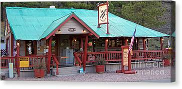 Canvas Print featuring the photograph The Rendezvous Diner by Juls Adams