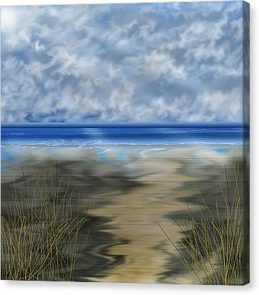The Road Less Travelled Canvas Print by Anne Norskog