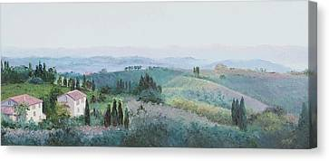 The Rolling Hills Of Tuscany Canvas Print by Jan Matson