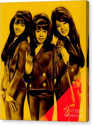 Music Canvas Print - The Ronettes Collection by Marvin Blaine