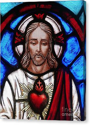 Sacred Canvas Print - The Sacred Heart Of Jesus by French School