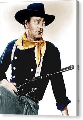 The Searchers, John Wayne, 1956 Canvas Print by Everett