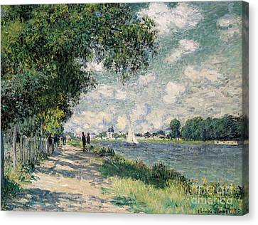 Figures Canvas Print - The Seine At Argenteuil by Claude Monet