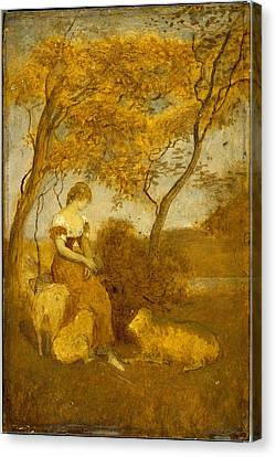 The Shepherdess Canvas Print by MotionAge Designs