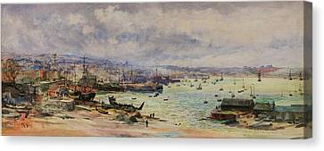 The Shipyards Canvas Print by William Lionel