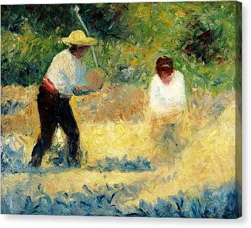 The Stone Breaker Canvas Print by Georges Seurat