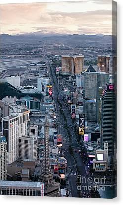 The Strip At Night, Las Vegas Canvas Print by PhotoStock-Israel