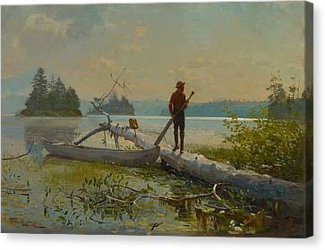 The Trapper Canvas Print by Winslow Homer