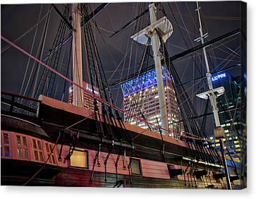 Canvas Print featuring the photograph The Uss Constellation by Mark Dodd