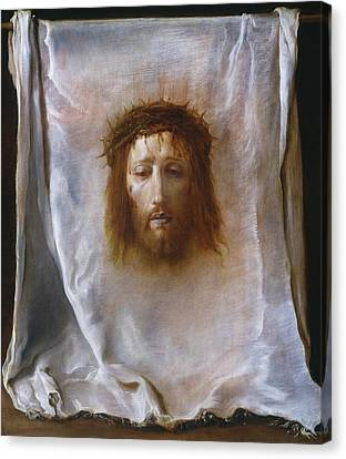 The Veil Of Veronica Canvas Print by Domenico Fetti