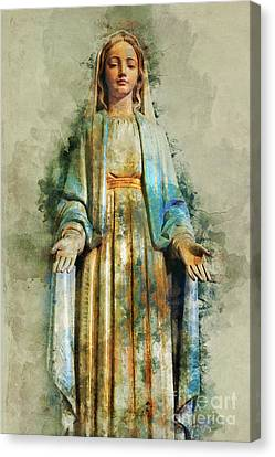 Thailand Canvas Print - The Virgin Mary by Ian Mitchell