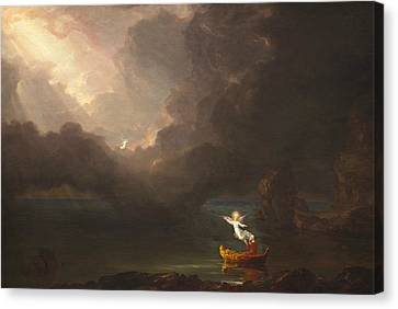 The Voyage Of Life, Old Age Canvas Print by Thomas Cole