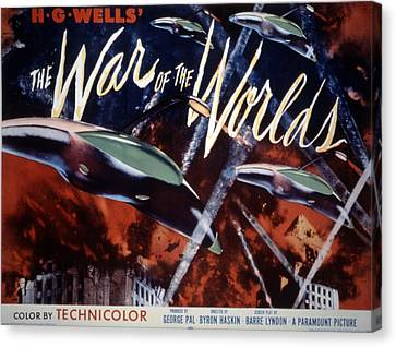 Horror Fantasy Movies Canvas Print - The War Of The Worlds, 1953 by Everett