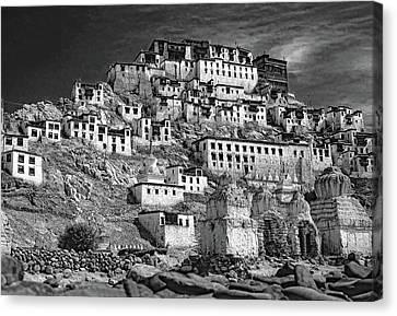 Tibetan Buddhism Canvas Print - Thiksey Monastery by Steve Harrington