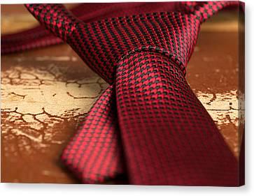 Black Tie Canvas Print - Tie by Boyan Dimitrov