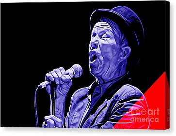 Blues Canvas Print - Tom Waits Collection by Marvin Blaine