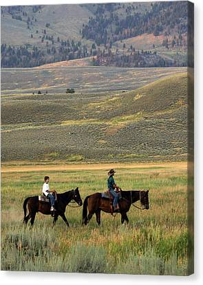 Trail Ride Canvas Print by Marty Koch