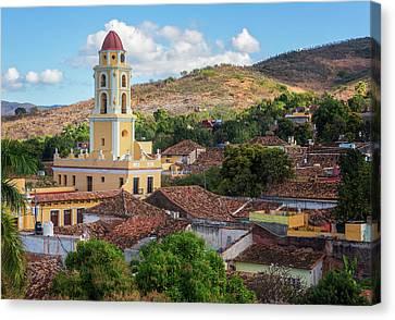 Canvas Print featuring the photograph Trinidad Cuba Cityscape II by Joan Carroll