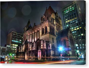Canvas Print featuring the photograph Trinity Church - Copley Square Boston by Joann Vitali