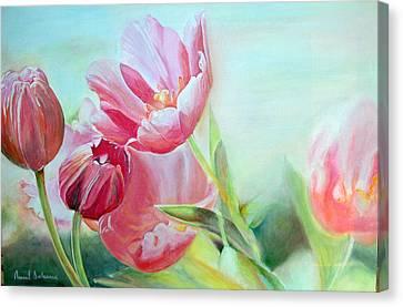 Tulipes Canvas Print by Muriel Dolemieux